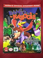 New listing BANJO - KAZOOIE (PRIMA'S OFFICIAL STRATEGY GUIDE) By Kip Ward