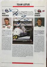 Mika Häkkinen - Formel 1 -original Autogramm - Größe 30 x 20 cm