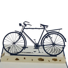 3D Pop Up Card Handmade Sport Bicycle Bike Happy Birthday Christmas Greeting pO