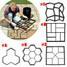 Garden DIY Plastic Path Maker Model Concrete Stepping Stone Cement Mould Brick