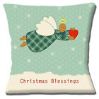SHABBY CHIC PATCHWORK PRINT FLYING ANGEL HEART CHRISTMAS 16 Pillow Cushion Cover