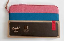 "Herschel Mac Book Air Case Cover 11 "" Inch Blue Red Zipped Sleeve Brand New- UK"