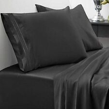 Sweet Home Collection 1800 Thread Count Sheet Set 4 Piece - Full - Black NEW