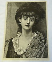 1882 magazine engraving ~ A TYPE OF BEAUTY by Paul Baudry