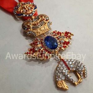 BURGUNDY AWARD - ORDER OF THE GOLDEN FLEECE WITH SWAROVSKI -GIDEON'S SIGN - COPY