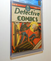DETECTIVE COMICS #30 CGC 4TH BATMAN 1939 BOB KANE SIGNED BY JERRY ROBINSON