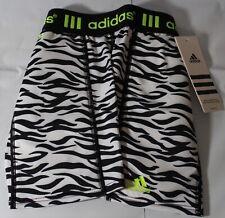 adidas Girls' Destiny Printed Sliding Shorts, Black/White, Size XS