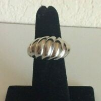 Vintage Sarah Coventry Silver Tone Texture Dome Ring Adjustable Size
