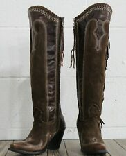Double D Ranch by Lane Boots Domingo Fringe Women's Western Cowgirl Boots Size 5