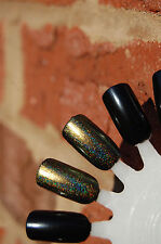 Chrome Holographic Spectraflair Top Coat ~ 13.3 ml. Green / Gold