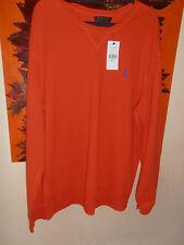 BNWT Mens Ralph Lauren Jumper Round Neck 100% Cotton Orange Large