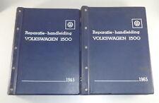 Werkplaats Handboek VW1500 / 1600 Typ 3 + Karmann Ghia Typ 34 ab 1965
