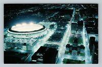 St Louis MO, Downtown, Night View From Gateway Arch, Chrome Missouri Postcard