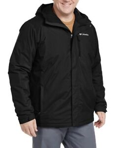 Columbia Men's Tipton Peak Insulated Hooded Jacket Black New Tags XXL