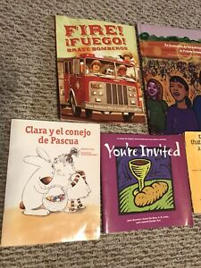 SPANISH Children Books Homeschool Libros Christian  Lot of 9
