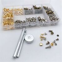 Set Leather Rivets Pack Accessories Leathercraft Metal Studs Repairing