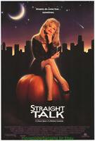 STRAIGHT TALK MOVIE POSTER 27x40 ORIGINAL1992 One Sheet DOLLY PARTON
