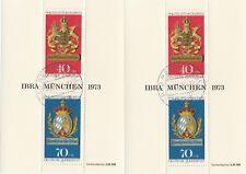 2 Blöcke IBRA München 1973 gestempelt tadelloser Zustand