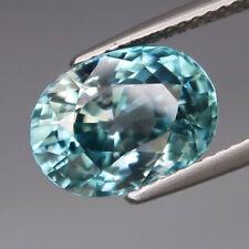 6.60Ct.Ravishing Color! Ultra Lustrous Natural BIG Blue Cambodian Zircon