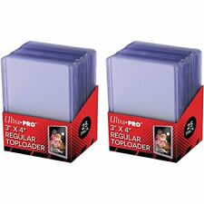 Ultra Pro 3x4 inch Regular Toploaders 50x = 2 SEALED Pack of 25 Top Loaders 35pt