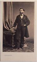 Ritratto Uomo Da S.Bureau Parigi Carte de visite CDV Vintage Albumina c1860