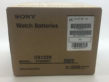 50 Genuine Sony CR1220 3v Lithium 1220 Coin Batteries Expires 2027