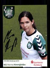 Marina Himmighofen Autogrammkarte FCR Duisburg 2012-13 Original + A 130334