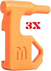 Empty Gun Chamber Indicator Orange Flag Qty. 3 Indicators Per Pack