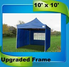 10'x10' Pop Up Canopy Party Tent - Navy Blue - F Model Upgraded Frame