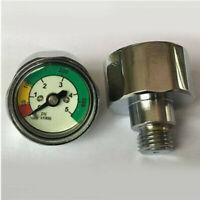 Scuba Dive Pressure Gauge SPG Pony Bottle Pressure Gauge Mini Air Tank PSI BAR