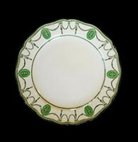 Beautiful Royal Doulton Countess Green Rim Bread Plate Circa 1920
