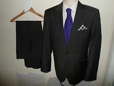 VGC* 40R JEFF BANKS London Men's Suit 100% Wool Single Breasted SIZE 40R W34 L29
