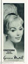 PUBLICITE ADVERTISING 115  1964  GERMAINE MONTEIL  cosmétiques CONDITIONING
