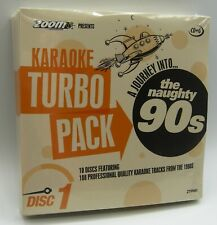 Zoom Karaoke 90s Turbo Pack - Volume 1 to 10 - 188 karaoke tracks on CD+G