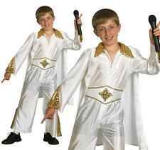 Childrens Elvis Presley Fancy Dress Costime Rock Star The King Kids Outfit M