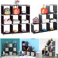 3-Tier Storage Cube Closet Organizer Shelf 6/9 Cubes Cabinet Bookcase Storage US