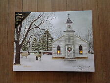 I Heard the Bells On Christmas Day Battery Lighted Canvas Print Billy Jacobs NEW
