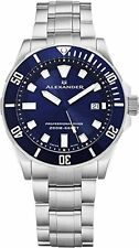 Alexander Professional Diver Swiss Quartz Dive Men Bezel Stainless Steel