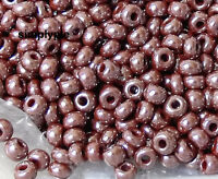 ++ 6/0 Czech Luster Brown Glass Seed Beads 10-Grams Opaque