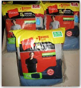 5 Pk Hanes Men's Colors Crewneck Undershirt T-Shirt W Pockets Small Comfort Soft