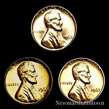 1965 1966 1967 SMS Lincoln Memorial Mint Penny U.S. Coins from Original SMS Set