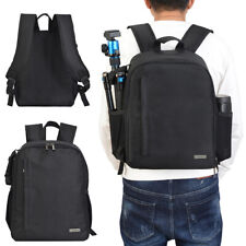 Digital Camera Backpack Large Capacity Rucksack Waterproof Tripod DSLR Case Bag