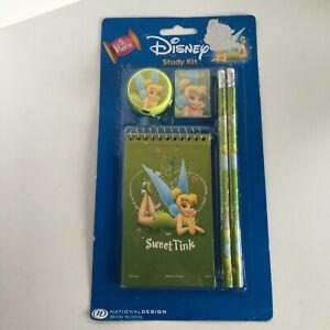 Tinkerbell Disney Pencils, Ruler, Eraser, Notebook, Sharpener School Study Kit