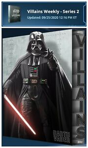 Star Wars Card Trader   2020 Villains Series 2: Steel Set (12) + Vader Award