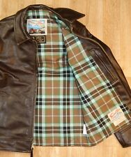 Aero Highwayman sz 36 (fits like 40) Dark Seal Vicenza Horsehide Leather Jacket