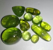 100% Natural Peridot cabs lot, 71.65 crt frm Pakistan, mix sizes, nice cutting.