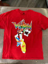 Voltron Cartoon T-Shirt Mens Red Retro Tv Show Mens Adult Tee