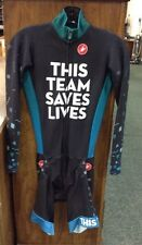 "MENS CASTELLI LONG SLEEVE ""THIS TEAM SAVES LIVES"" CYCLING SKIN SUIT SIZE SMALL"
