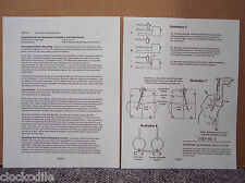 "WALL CLOCK MOVEMENT INSTALLATION INSTRUCTION ""MANUAL""  - parts service repair"