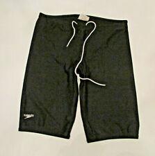 Men's Speedo 825764 PowerFLEX Eco Solid Jammer Swimsuit 34 Black Swim Shorts